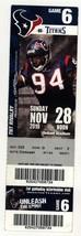 RARE TENNESSEE TITANS @ HOUSTON TEXANS 11/28/10 Season Ticket! Antonio S... - $2.51