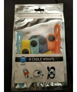 Onn Brand Cable Wraps 8 Wraps In 3 Sizes Organizer - $9.89
