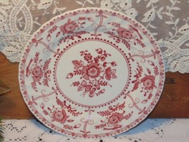 INDIES Pink Salad Plate Johnson Brothers Red Tr... - $6.65