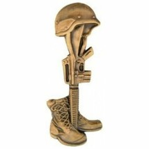 Army Navy Marines Fallen Hero Gold Lapel Hat Pin Lest We Forget - $18.04