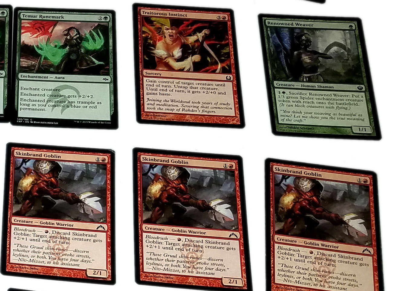 Magic the Gathering MTG Red / Green Bloodrush (60) Card Custom Starter Deck