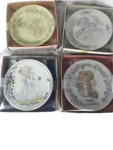 Precious Moments Miniature Plate Collection- 4 Pack Vintage From 1989 - ... - $19.79