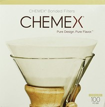 Chemex Bonded Coffee Filter, Circle, 100ct - Exclusive Packaging - $16.90