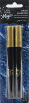American Crafts Color Pour Magic Paint Pen 2/Pkg-Opaque - Gold - $9.89