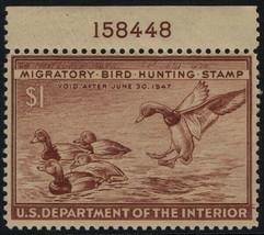 """RW13 - $1 F-VF """"Redhead Ducks"""" W/Pl# 158448 Mint NH - $42.56"""