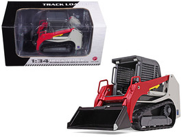 Track Loader Gray/Red 1/34 Diecast Model Car by First Gear - $62.13