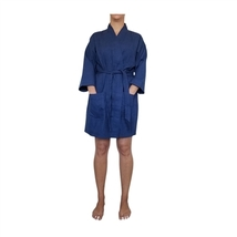 "36"" Navy Cotton Waffle Kimono Robe, Adult One Size Fits Most - $22.50"