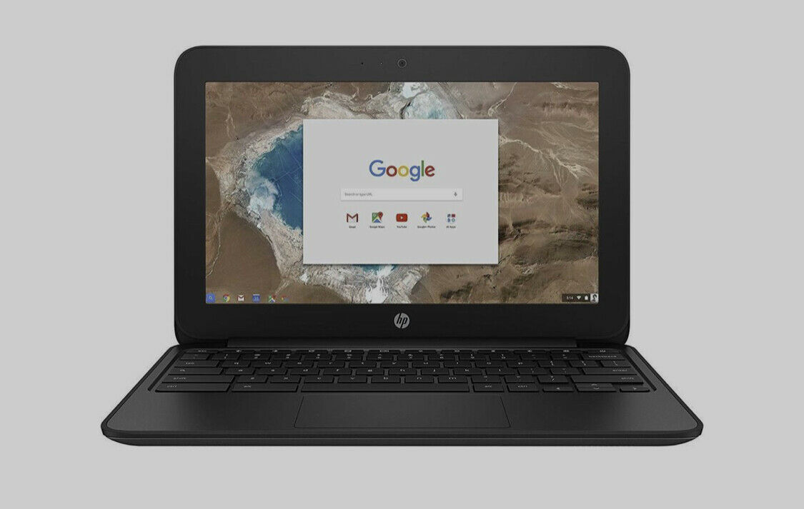 "Primary image for HP Chromebook 11 G5 EE Intel Celeron N3060 X2 2.48GHz 4GB 16GB SSD 11.6"" Black"