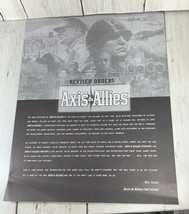 Axis & Allies Revised Orders 2004 Avalon Hill - $19.79
