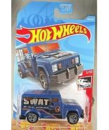 2019 Hot Wheels Treasure Hunt #182 HW Rescue 5/10 HW ARMORED TRUCK Dark Blue w5s - $8.50