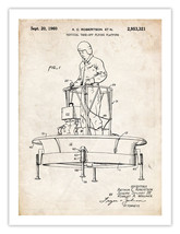 "Flying Platform Invention Poster Us Air Force Ufo 1960 Patent Print 18X24"" Gift - $19.75"