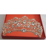 Princess Rose Gold Plated Crystal Tiara Style T-001-C - $39.50