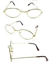 Tall Bridge Oval Gold Frame Men Women Clear Lens Reading Glasses +2.00 ~... - $5.95+