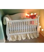 Cream Cotton Ruffled Crib Skirt / Mini Crib Skirt - $25.99+