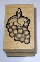 Stampa Barbara Grapes Ornament Rubber Stamp Fruit Christmas Retired Rare Leaves  - $9.89