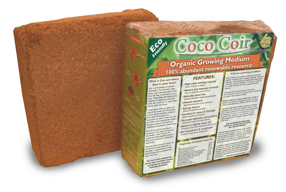 6 X 5kg Bricks (55.5 LBS.) Coconut Coir Coco Coir Soil Amendment Growing Medium