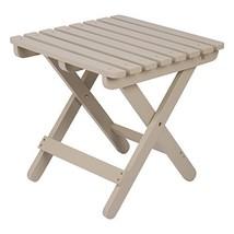 Shine Company 4109TG Adirondack Square Folding Table, Taupe Gray - $58.03