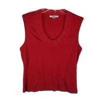 Petite Sophisticate Women's Shirt Blouse ~ Sz S ~ Red ~ Sleeveless ~ Str... - $14.84
