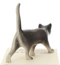 Hagen-Renaker Miniature Ceramic Cat Figurine Gray Cat Walking image 3
