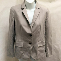 J Crew 2 School Boy Blazer Beige Khaki Two Button Jacket - $19.59