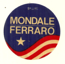MONDALE FERRARO - 1984 US PRESIDENTIAL CAMPAIGN STICKER - USED - NO ADHE... - $1.49