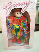 NEW IN BOX 1995 GINNY VOGUE DOLL  GINNY CLOWN NRFB DOLL &  STAND #8HP72 - $26.10