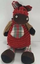 "Jellycat London Corduroy Horse Plaid Plush Stuffed Floppy Legs 15"" Stand... - $17.81"