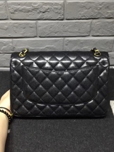 AUTHENTIC CHANEL BLACK CAVIAR QUILTED JUMBO DOUBLE FLAP BAG GOLD HARDWARE image 2