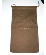 GUCCI 8.5 X 15 dust bag shoes sleeper storage travel duster dustbag logo... - $29.09