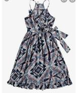 Roxy Rooftop Sunrise Strappy Midi Wrap Dress Blue - size M - £17.41 GBP