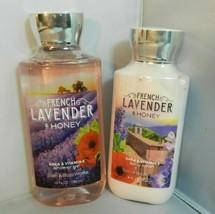 Bath & Body Works FRENCH LAVENDER & HONEY Shower Gel + Body Lotion Set New - $19.99