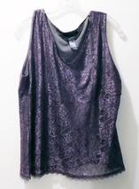 Studio by Liz Claiborne Gray LaceTank Top - Women's Size XL - Nylon/Poly... - $12.73
