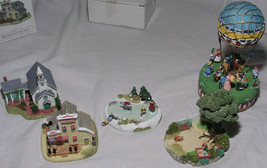 Liberty Falls Mini Porcelain Buildings Airship Playground Skating Pond R... - $84.99
