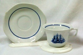 Wedgwood 1992 American Clipper Blue Cup And Saucer Set - $11.77