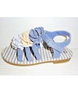CHEROKEE Girl's Toddler Joslyn Sandals Chiffon Flower Blue Sz 10 - $16.74
