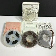 Lot 8 Used Vintage Radio Shack 3 Inch Concert Recording Tapes .5 Mil 1/4... - $23.74