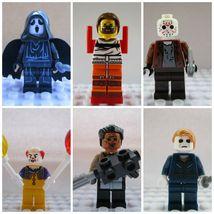 6pcs Halloween Horror Movie Jason Scream Hannibal Pennywise Custom Minif... - $14.99