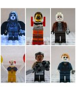 6pcs Halloween Horror Movie Jason Scream Hannibal Pennywise Custom Minifigures - $14.99