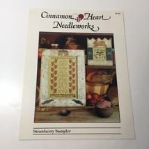 Strawberry Sampler Cross Stitch Pattern Book Cinnamon Heart Needleworks - $9.74