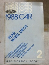1988 Ford Specification Book Service Manual OEM Car Rear Wheel Drive - $3.03