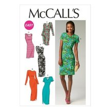 McCall Pattern Company M6886 Misses' Dresses Sewing Template, Size E5 (14-16-18- - $14.21