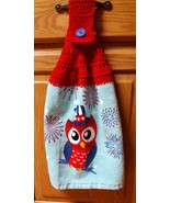 4th of July Owl Crocheted Hanging Dish Towel - $6.00