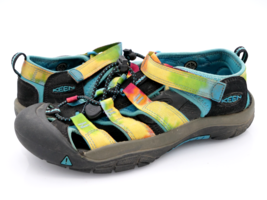 Keen Unisex Kids 5 Multicolor Newport H2 Tie Dye Hook And Loop Fisherman Sandals - $27.99