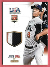 2014 Justin Garza Panini USA Baseball Rookie Patch 07/35 - Cleveland Indians - $2.84