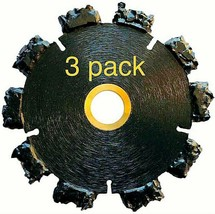 """3pk 4"""" Fire Rescue Root Cutter Carbide tipped Demolition Blade x .250  - $193.05"""