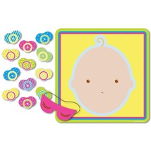 """Beistle 66675 Pin The Pacifier Baby Shower Game, 17"""" x 18.5"""" - ₨364.31 INR"""