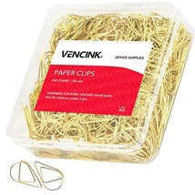 300 Pieces Gold Cute Paper Clips Smooth Stainless Steel Drop-Shaped Wire... - $9.57