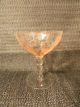 Pink and Crystal Aster Champagne Glass by Central Goblet Stem - $11.99