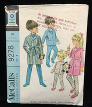 Robe & Pajamas PJ Sewing Pattern Size 5 Girls or Boys Child Vintage 9278... - $6.92