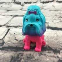 "Rainbow Shih Tzu Dog Figure 2.5"" Cute Pretty Pet Cake Topper Collectible... - $7.91"